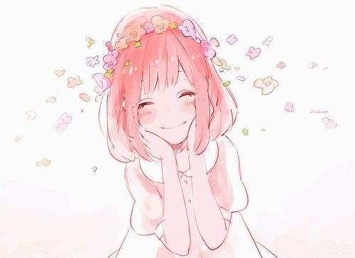 anime girl pink blue - Google Search
