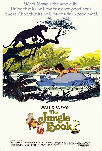 The Jungle Book. An orphan boy is adopted by wolves and hangs around in the jungle with his friend a bear and panther. 5 of 5
