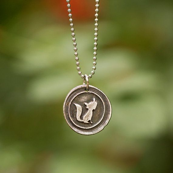 Hey, I found this really awesome Etsy listing at https://www.etsy.com/listing/256550438/silver-fox-necklace-fox-jewelry-wax-seal