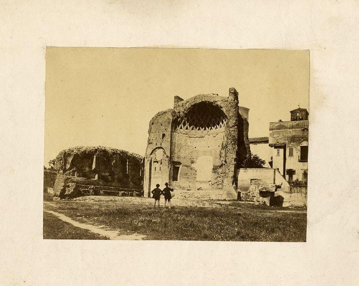 Temple of Venus Vintage albumen print, Italy Tirage albuminé 10x13 Circa 1875