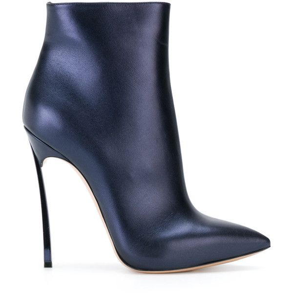 Casadei Blade ankle boots (€390) ❤ liked on Polyvore featuring shoes, boots, ankle booties, blue, blue bootie, blue ankle boots, high heel stilettos, stiletto ankle boots and pointy-toe ankle boots