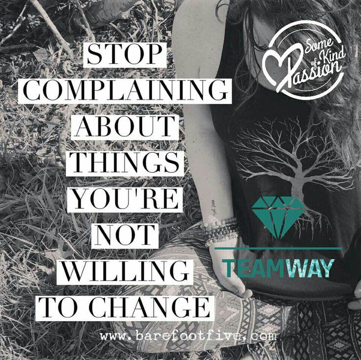 Gostavas de mudar alguma coisa em ti, aprender e evoluir como pessoa? Então, arregaça as mangas e toca a fazer algo diferente para isso acontecer ;)  Queixares-te não vai ajudar em nada!   A oportunidade existe e está aqui ao teu alcance e ao de todos!! :)  #Teamway #ChangingTheWorld #SomeKindOfPassion #StopComplaining #DoSomethingDifferent #SeekNewOpportunities #BelieveInYourself  facebook.com/somekindofpassion