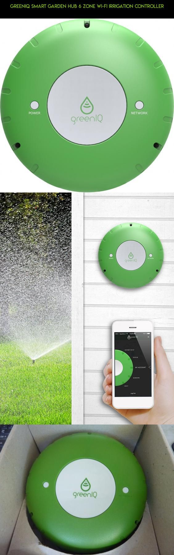 GreenIQ Smart Garden Hub 6 Zone Wi-Fi Irrigation Controller #parts #camera #plans #drone #kit #fpv #technology #tech #gardening #gadgets #racing #products #shopping #zones
