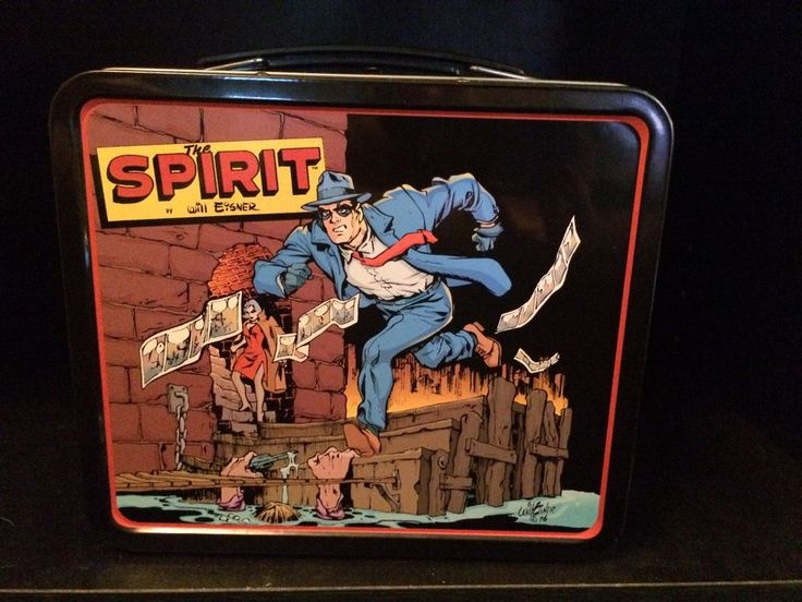The Spirit Tin Metal Lunchbox Will Eisner Dark Horse Comics w/postcard #TheSpirit #Tin #Metal #Lunchbox #WillEisner #DarkHorse #Comics w/ #postcard
