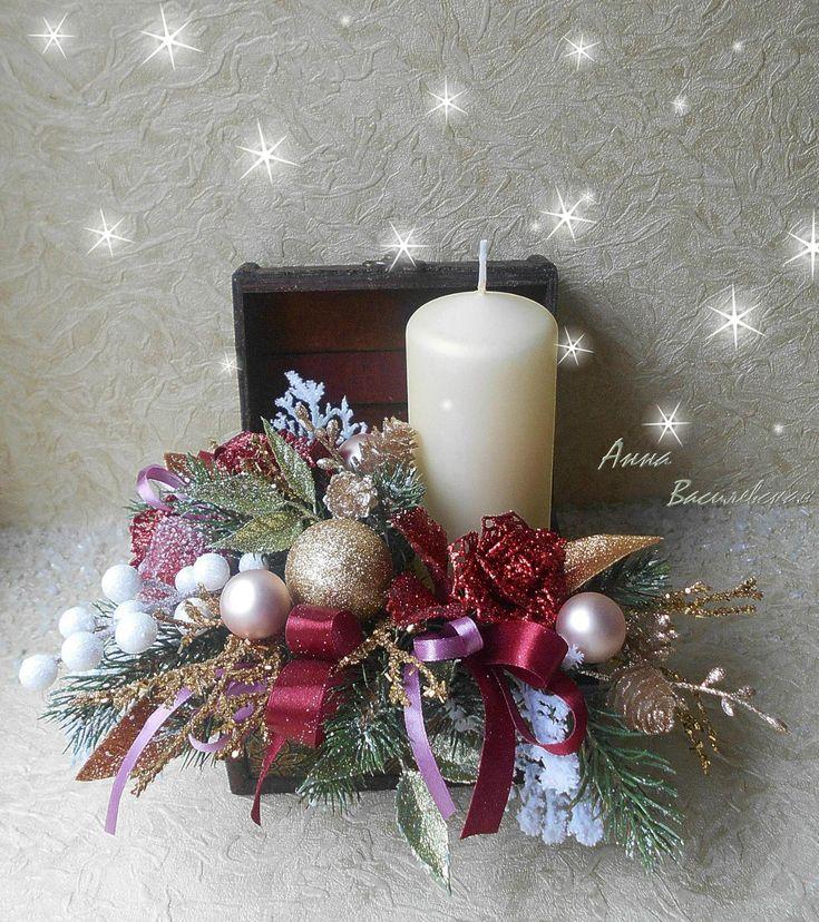рождество новый год композиция фото убор