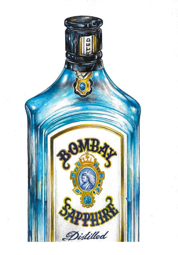 """Bombay Sapphire"" (2014) watercolour on paper (15x21cm) by Tiina Lilja"