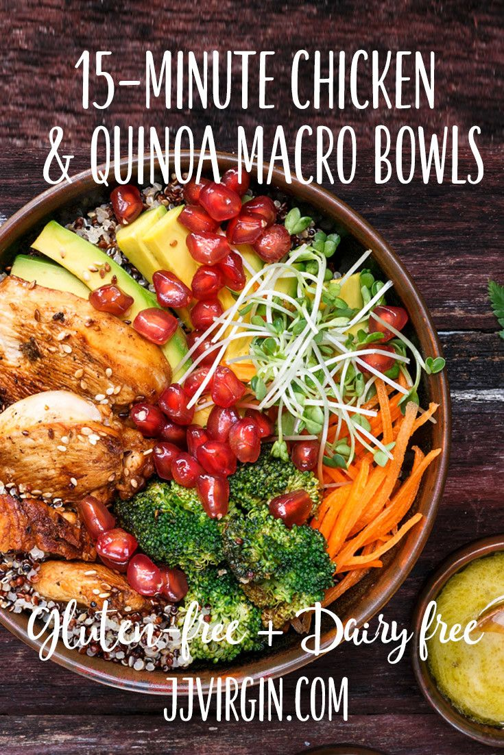 15 Minute Chicken Quinoa Macro Bowls Recipe With Images