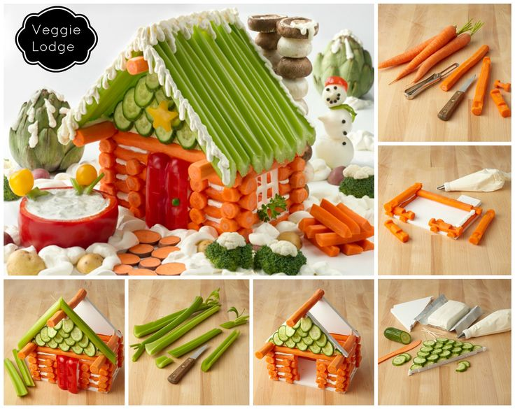 """You need: Six 8"""" carrot logs (1 front, 5 back) 