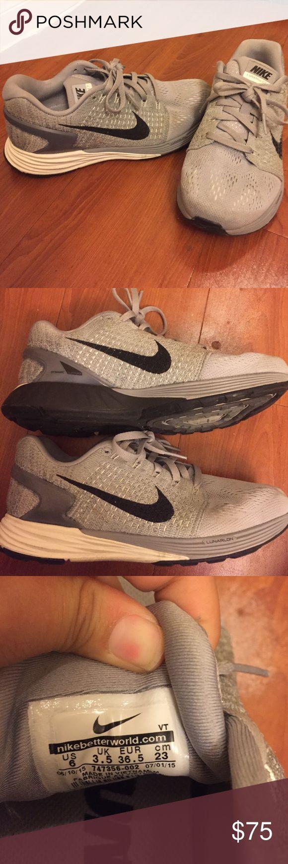 Grey Nike lunar glide 7s. Size 6 women's Grey Nike lunar glide 7s. Size 6 women's Nike Shoes Athletic Shoes