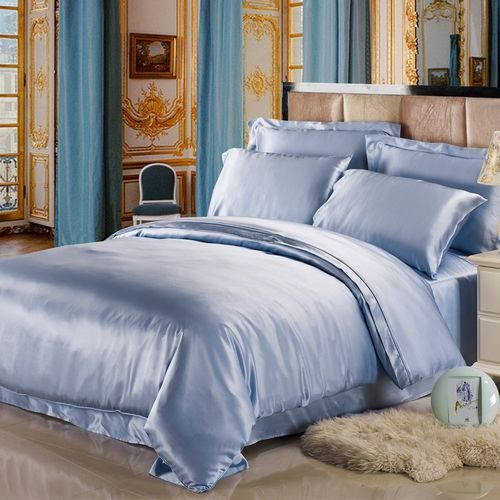 Light Blue Silk Sheet