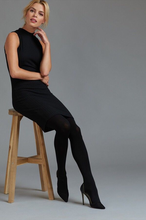 BASIC BLACK OPAQUE TIGHTS -  BASIC BLACK OPAQUE TIGHTS Turn up the heat from the…