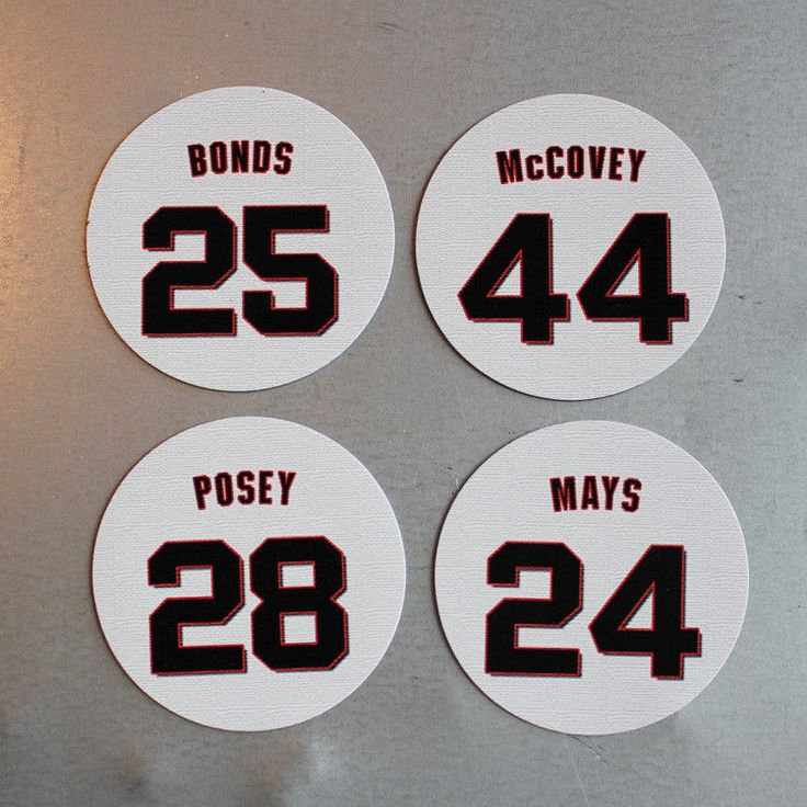 San Francisco Giants Magnets  Franchise Four - Bonds, Posey, McCovey, Mays #sfgiants #SanFranciscoGiants