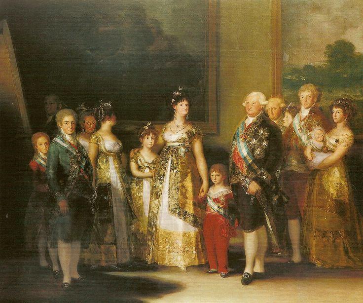 Art Pin XIX Goya Francisco de Familia Carlos IV M B A S Fernando 1800 a 1 .gif (1203×1004)
