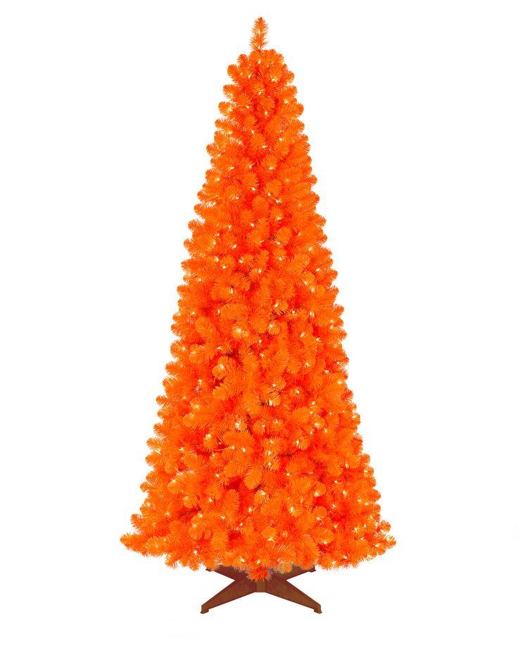 Orange Artificial Christmas Tree   Treetopia