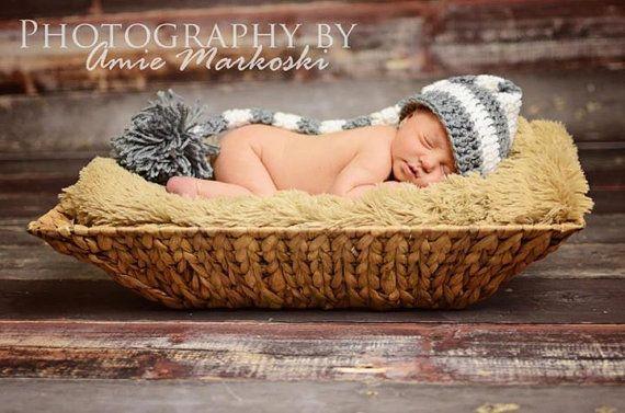 Crochet Newborn Elf Hat, Christmas Baby Hat, Photography prop, Holiday, Halloween on Etsy, $22.00