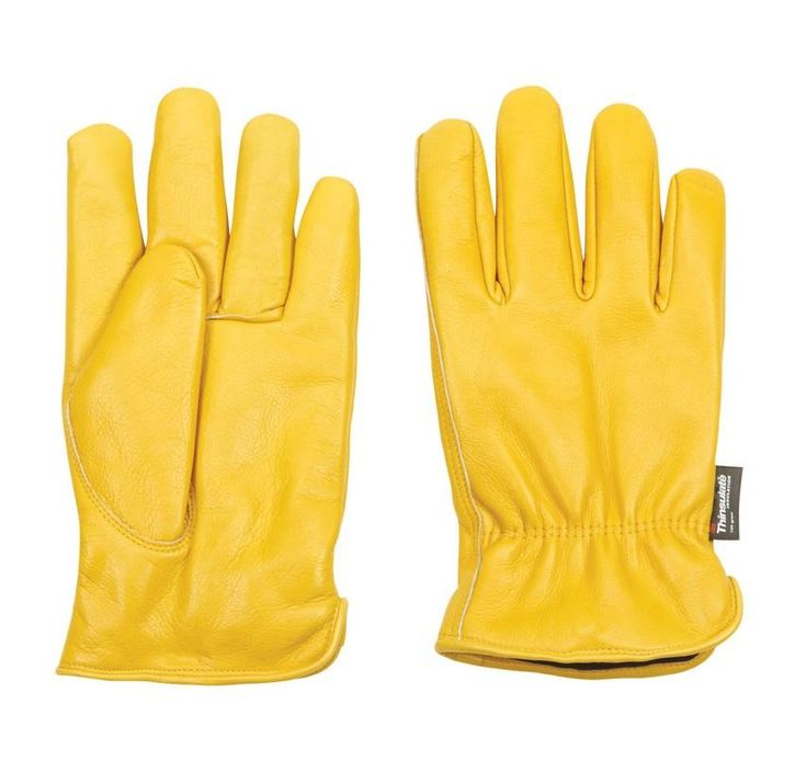 Well Lamont 1108XX Men's XXL Cowhide Leather Work Gloves, Yellow