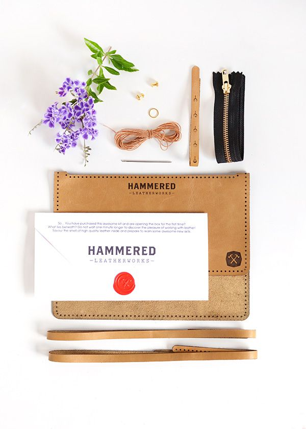 DIY kits from Hammered Leatherworks   a giveaway!