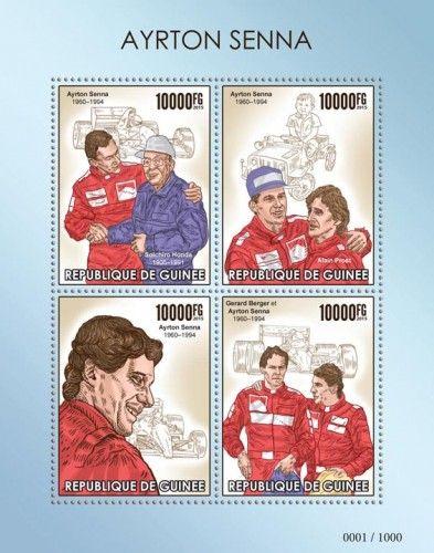 GU15421a Ayrton Senna (1960–1994. Soichiro Honda (1906–1991), Alain Prost, Gerard Berger)