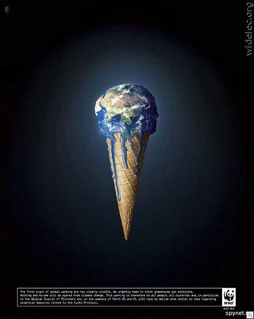 Les campagnes WWF contre le réchauffement climatique #choc #environnement #ecologie