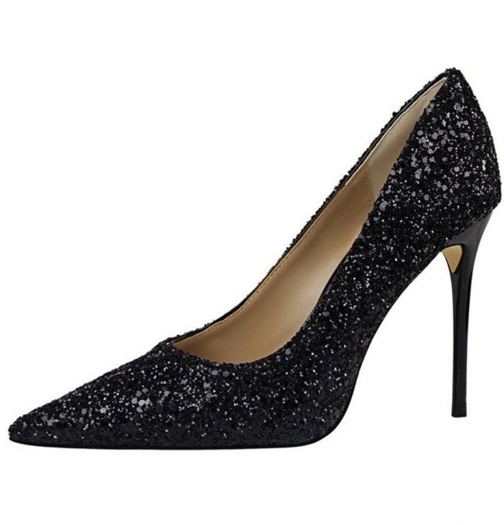 Champagne Ouro Branco Prata Preto Multi Color Glitter Bling Bling Casamento Sapatos de Lantejoulas Mulheres Stiletto Bombas de Salto Alto em Bombas das mulheres de Sapatos no AliExpress.com | Alibaba Group