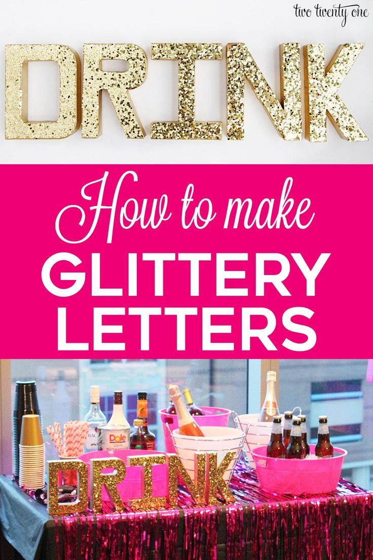How To Make Glitter Letters In 2020 Letter A Crafts Outdoor Party Decorations Glitter Letters