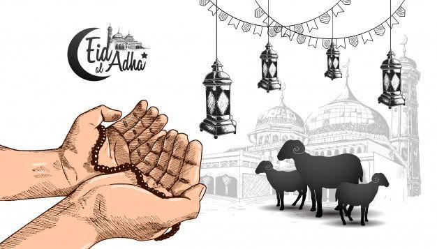 Eid Al Adha Ramadan Design With Hand Praying Eid Ul Adha Eid Ul Adha Wallpaper Eid Al Adha