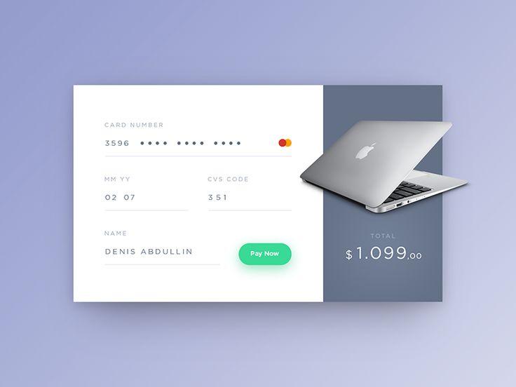 27 best E-Commerce images on Pinterest App design, Application - credit card form