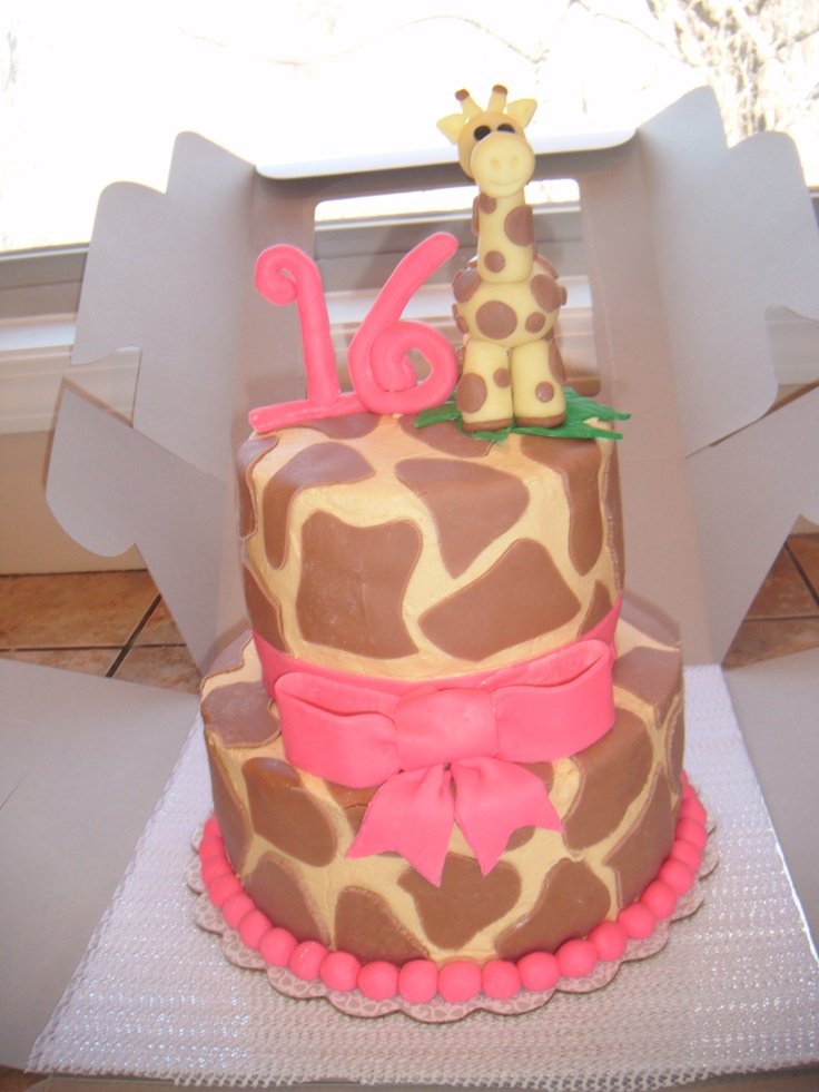 Giraffe Cake-would love just the bottom tier but for a 3 year old :)