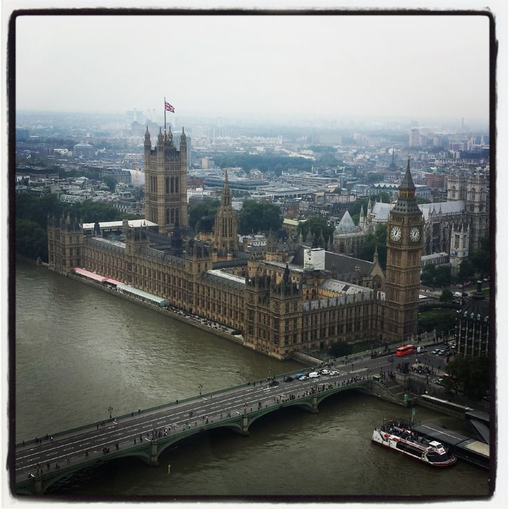 Westminster Bridge and Westminster Palace. London, England.