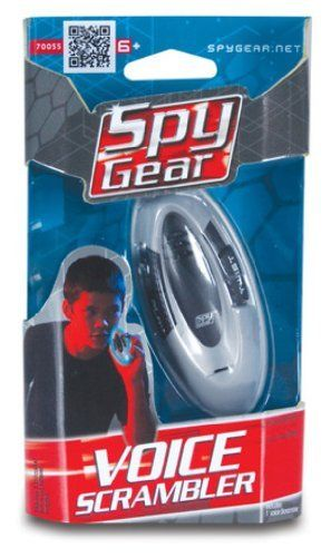 "Spy Gear Voice Scrambler - Record You Voice & Play It Back TWISTED! . $4.99. Spy Gear Voice Scrambler Toy Device. Small & Compact - Approximately 3 1/2"" x 1 1/2"". Has Recording & Playback Function. Speaker & Microphone. Features A Voice Twist Effect. Recommends for Ages 6+"