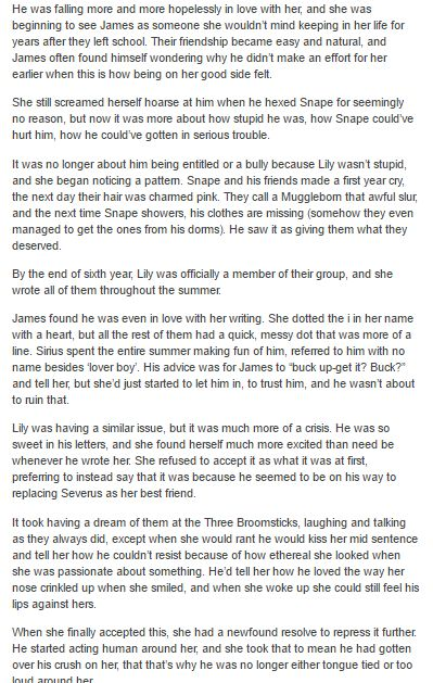 James and Lily - The Marauders part 2