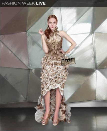 Happy New Year Fashion Fans! Our model started off the year with one of 2013's top sellers, the Ruffled Mermaid Dress.