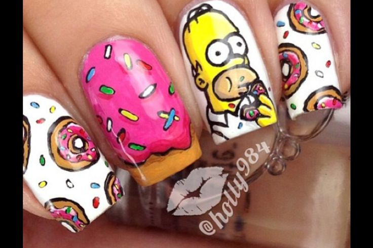 HOMER SIMPSON NAILS OMG ❤️