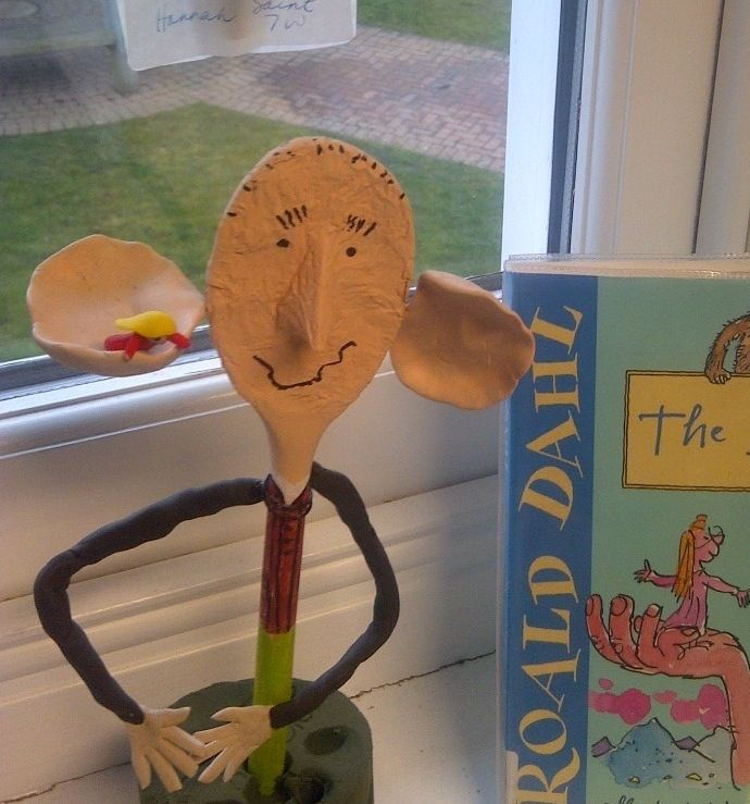 @Katie Horn  Book characters from a wooden spoon!!