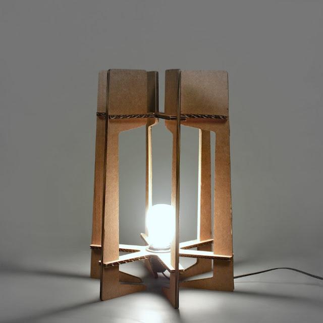 Fresh Cardboard Self assembled lamp Enrique Romero de la Llana