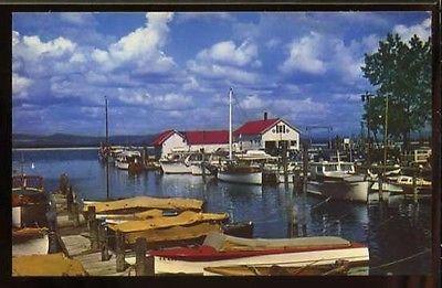 BURLINGTON YACHT BASIN, LAKE CHAMPLAIN VT OLD BOATS Shelburne Vermont Chittenden