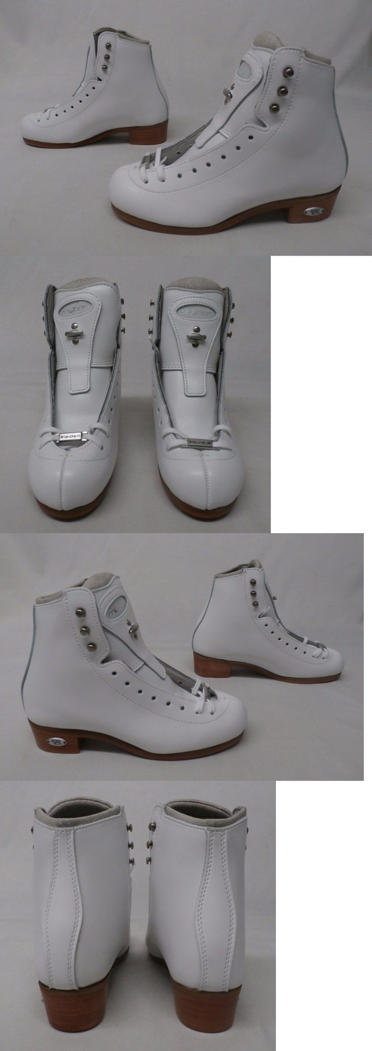 Youth 26344: Riedell 25 Motion Figure Ice Skates White Mm1 Size 2.5 M (Boots Only, No Blades) BUY IT NOW ONLY: $299.99