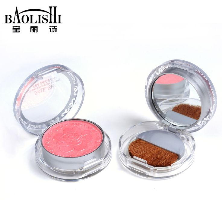 hot sell! baolishi 3pcs pink blush palette bronzer blusher brand makeup cosmetic