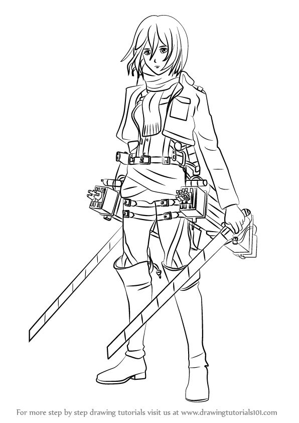 Learn How to Draw Mikasa Ackerman from Attack on Titan