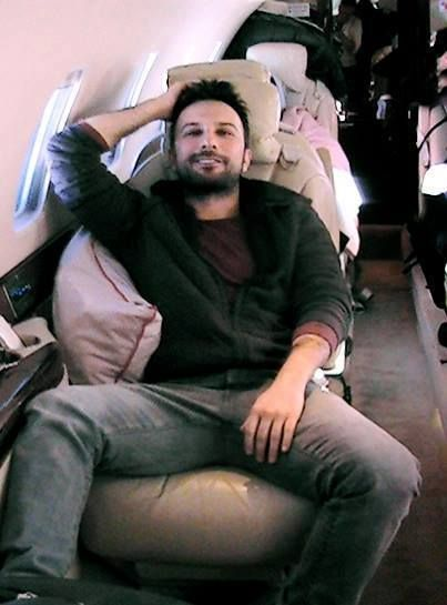 On the plane, returning from Astana. Photos from Tarkan's official facebook page. Pin It
