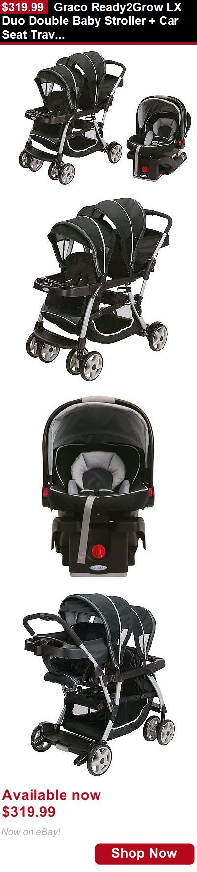 Strollers: Graco Ready2grow Lx Duo Double Baby Stroller + Car Seat Travel System, Gotham BUY IT NOW ONLY: $319.99