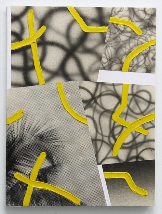 Gorgeous fragmented mixed media abstractions by Josh Reames reference everything from architecture to graffiti.