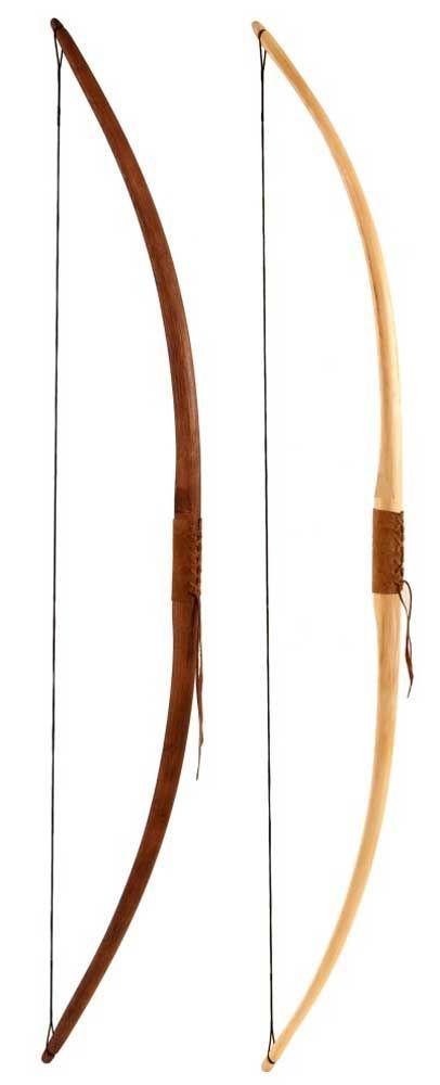 Traditionele houten longbow trekgewichten van 15 tot 40 lbs Longbow is gemaakt van rotan palm hout De longbow is voorzien van een lederen handgreep