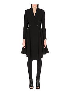 GIVENCHY Pleated wool-blend coat