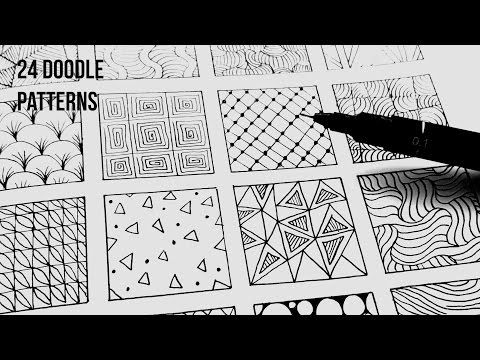 24 Easy Doodle Patterns Part 1 | Speed-Up ART - Dedic Weapon