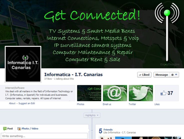 Informatica I.T. Canarias Facebook Page / www.facebook.com/Informatica.IT.Canarias by www.enjoydesigns.net