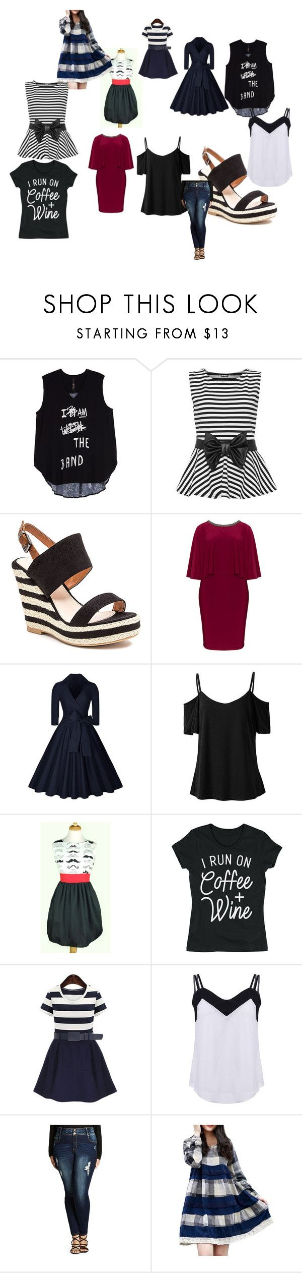 """""""dresses"""" by tahrahholmes ❤ liked on Polyvore featuring Melissa McCarthy Seven7, WearAll, French Blu, Lovedrobe, City Chic and plus size clothing"""