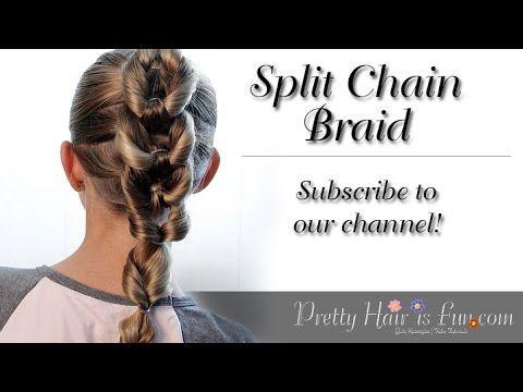 How To: Split Chain Braid {Braid Hairstyles} | Pretty Hair is Fun - YouTubeBraid Hairstyles, Braids, braids tutorial, braids for short hair, braids for short hair tutorial, braids for long hair, braids for long hair tutorials... Check more at http://app.cerkos.com/pin/how-to-split-chain-braid-braid-hairstyles-pretty-hair-is-fun-youtube/