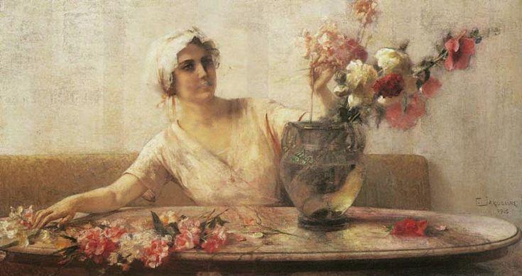 Γυναίκα με λουλούδια