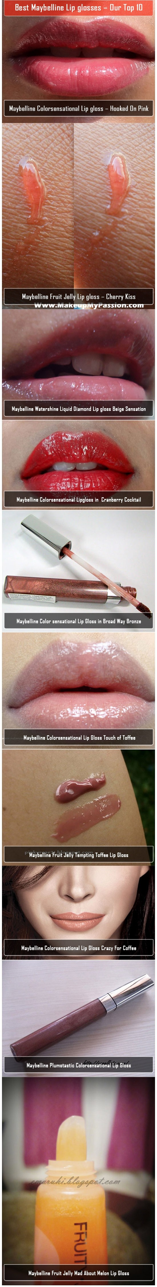 Best Maybelline Lip glosses – Our Top 10